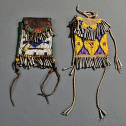 Two Sioux Beaded Pouches