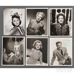 American Film Stars, a Collection of Signed Photographs, c. 1942.