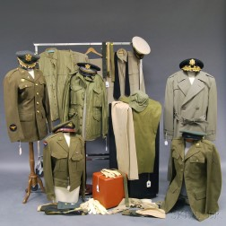 Assorted Group of United States World War II Uniforms and Accessories