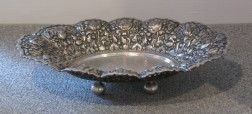 Indo-Persian .800 Silver Repousse and Reticulated Bread Tray