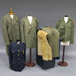 Group of Assorted Vintage Marine Corps Uniforms