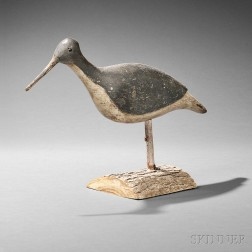 Carved and Painted Running Shorebird Decoy