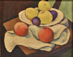 Jean Puy (French, 1876-1960)      Still Life with Apples and Plums