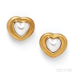 18kt Gold and Mabe Pearl Suite