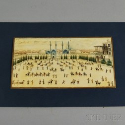 Persian View of Naqsh-e Jahan Square with Polo Players