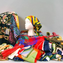 Large Collection of Silk and Wool Lady's Fashion Scarves