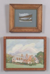 Lot of Two Works on Paper:   Ada Gilmore Chaffee (American 1883-1995) Keel, Achill