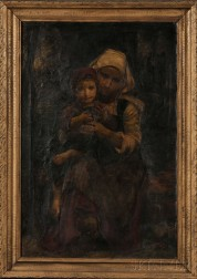Anglo/American School, 19th Century    Peasant Mother and Child