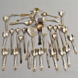 Group of Sterling and Coin Silver Flatware Articles