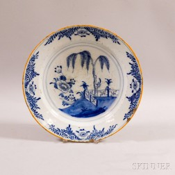 Delft Blue and White Ceramic Charger