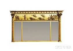 Federal-style Gilt-gesso Overmantel Mirror