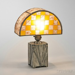 Art Deco Table Lamp with Handel Shade