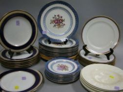 Forty English and Limoges Ceramic Plates