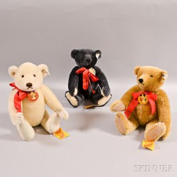 Three Steiff Limited Edition Annual Teddy Bear Convention Mohair Teddy Bears