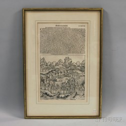 Single Framed Leaf from the Nuremberg Chronicle