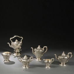 Six-piece Marcus & Co. Sterling Silver Tea and Coffee Service