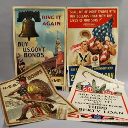 Four WWI Lithograph Posters