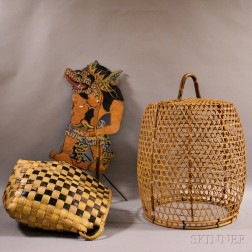 Two Baskets and a Shadow Puppet