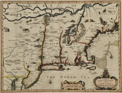 New England and New York. Francis Lamb (fl. 1667-1701) A Map of New England and New York.