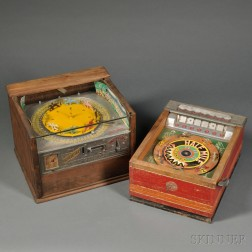 Two Coin-operated Racing Horse Arcade Games