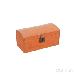 Small Red-painted Dome-top Box