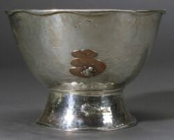 Tiffany & Co.  Aesthetic Movement Sterling and Mixed Metal Bowl