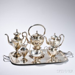 Six-piece S. Kirk & Son Co. Sterling Silver Tea and Coffee Service