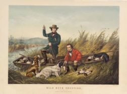 Nathaniel Currier, publisher (American, 1813-1888)    Wild Duck Shooting.  A good day's sport.