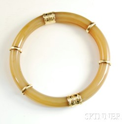 22kt Gold and Agate Armlet