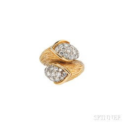 18kt Gold and Diamond Bypass Ring, Boucheron