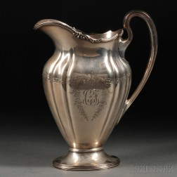 Graff, Washbourne & Dunn Sterling Silver Water Pitcher