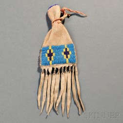 Blackfoot Beaded Hide Paint Bag