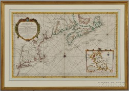 North America, East Coast: Long Island to Isle Royale, Canada. Jacques Nicolas Bellin (1703-1772) Carte Reduite Des Costes Orientales D