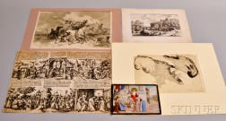 Five Assorted Old Masters and Intaglio Prints