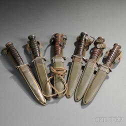 Six M3 Fighting Knives