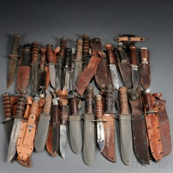 Group of Navy and Marine Fighting Knives