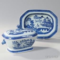 Canton Porcelain Tureen and Undertray
