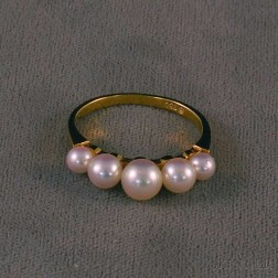 Mikimoto 18kt Gold and Pearl Ring