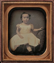 Jeremiah Gurney (American, 1812-1895)      Sixth-plate Daguerreotype of a Young Girl