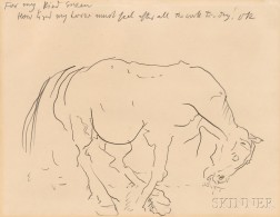 Oskar Kokoschka (German, 1886-1980)      How Tired my Horse Must Feel After All the Work To-day!