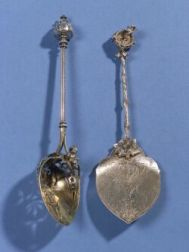 Two American Figural Flatware Serving Pieces