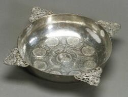 Continental Coin Silver Fruit Bowl