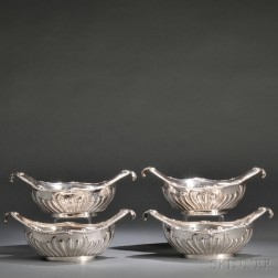 Four George III Sterling Silver Sauceboats