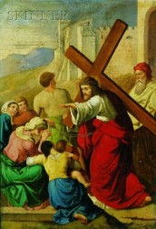 Continental School, 19th Century    Christ on the Road to Calvary