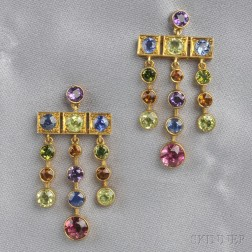 Gem-set Earpendants