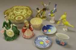 Twelve Assorted Porcelain Figures and Table Items