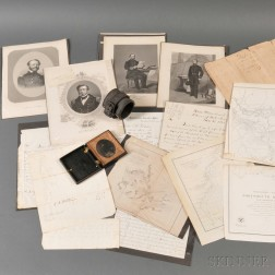 Thirteen Civil War Naval Letters, Maps, and Engravings