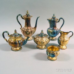 Six-piece Tiffany & Co. Silver-plated Tea and Coffee Service