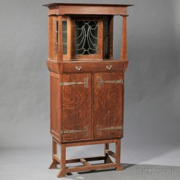 Arts & Crafts Cabinet Attributed to John Solley Henry