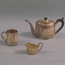 Three Pieces of Sterling Silver and Silver-plated Hollowware